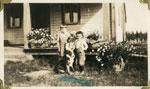 Evelyn, Harvey and Leonard Allen, Iron Bridge Circa 1933