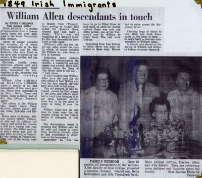Allen Family Descendants Reunion, Iron Bridge, Circa 1970
