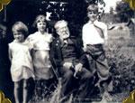 Grandfather Gardiner and Grandchildren, Summer 1934