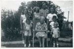 Grandma Allen and Grandchildren, Iron Bridge, 1951