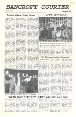 The Bancroft Courier Vol No 1