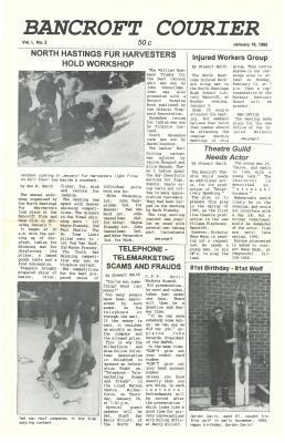 The Bancroft Courier Vol 1 No 2