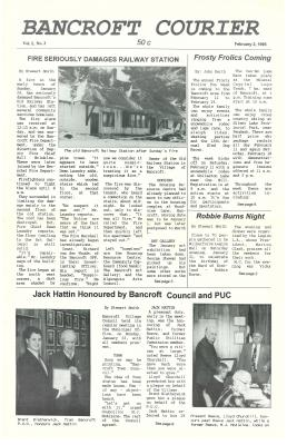 The Bancroft Courier Vol 1 No 3