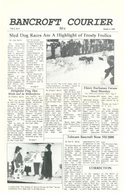 The Bancroft Courier Vol 1 No 5