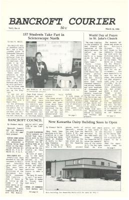 The Bancroft Courier Vol 1 No 6