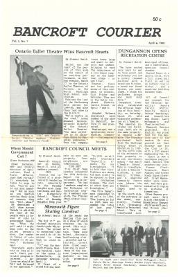 The Bancroft Courier Vol 1 No 7