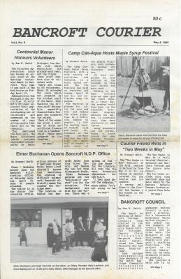The Bancroft Courier Vol 1 No 9