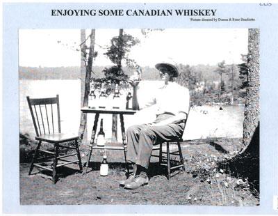 Enjoying Some Canadian Whiskey