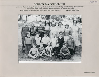 Gordon Bay School 1950