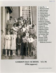 Gordon Bay School 1936 (Approx)