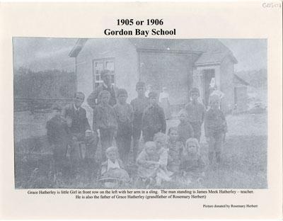 Gordon Bay School 1906 or 1907