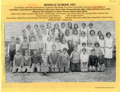 Rosseau School 1931