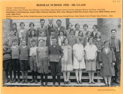 Senior Class in Rosseau School 1928