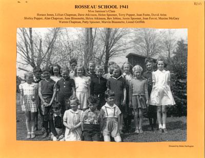 Junior Class Rosseau School 1941
