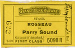 Stage ticket from Rosseu to Parry Sound