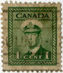 One Cent Canadian Postage Stamp