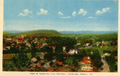 View of Huntsville, Ontario, from Lookout Mountain, looking north.
