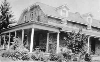 Fleming Scott Gilchrist House, 22 Hanes Street, Huntsville, Ontario taken in 1933.