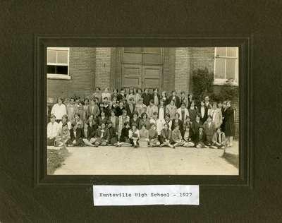 Huntsville High School, 1927, Huntsville, Ontario.