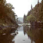 Finlayson Pond and Dam, Big East River system, Muskoka, Ontario, 1949.
