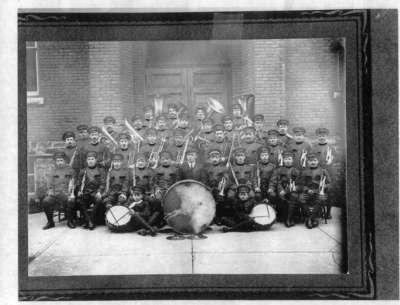 Italian Band, Huntsville, Ontario, c. 1914.