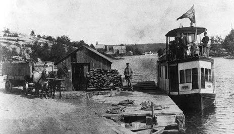 S.S. Gem at Port Sydney, Muskoka, Ontario.