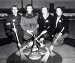 Churchill Ladies Curling Team at Camp Borden