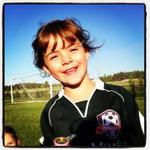 Adorable soccer player