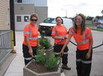 Town of Innisfil Girls Watering Herbs
