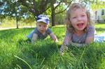 Summer fun in grass