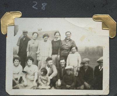 Grandpa, Grannie, Gladys, Ruby, Bea, Nookie Jack, Clifford, Colin, John, Sarah