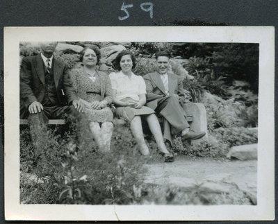 Mae, Leonard, Grannie, Grandpa