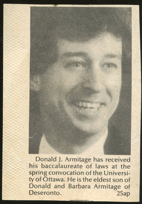 Donald Armitage Clipping