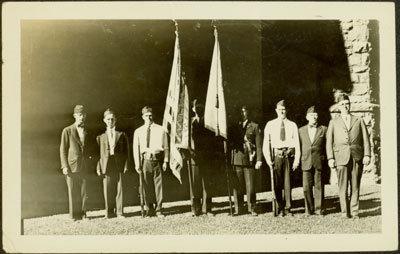Eight Men in Uniforms