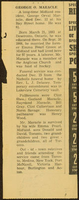 George Maracle's Obituary