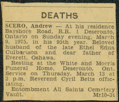 Andrew Scero Obituary