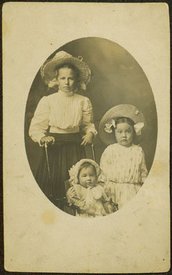 Susie Woodcock with the Children