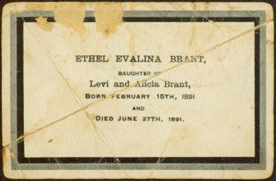 In Memoriam of Ethel Evalina Brant
