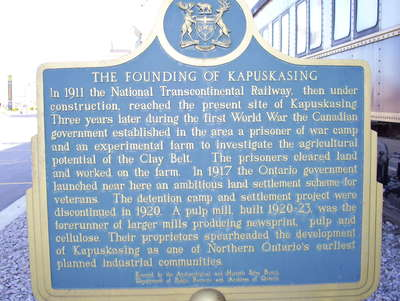The Founding of Kapuskasing