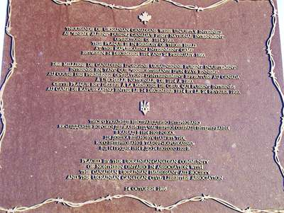 Internés Ukrainiens à Kapuskasing  1914-1920