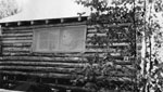 A Log Cabin, Brook's Farm, circa 1930