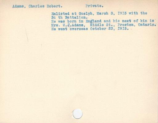 Adams, Charles Robert