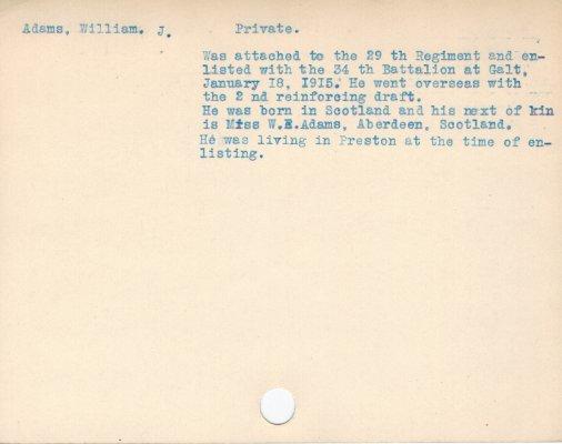 Adams, William J.