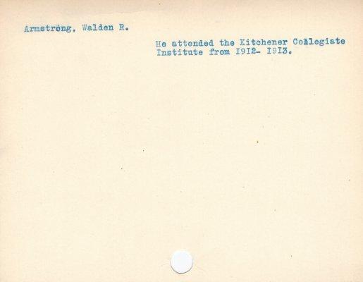 Armstrong, Walden R.