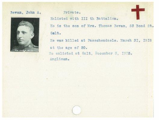 Bevan, John A.