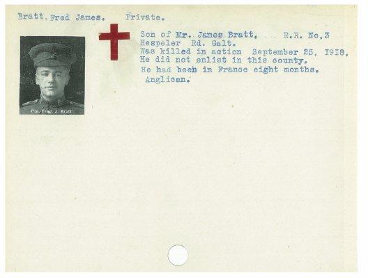 Bratt, Frederick James