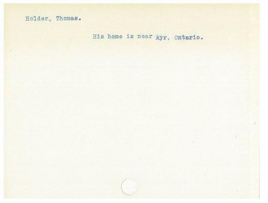Holder, Thomas