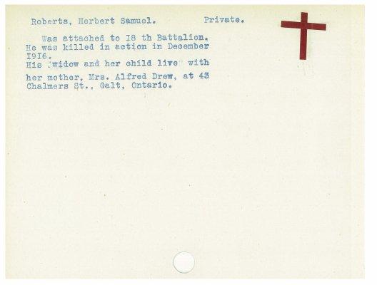 Roberts, Herbert Samuel