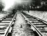 Laying tracks for the Berlin & Waterloo Street Railway on King Street, Waterloo, Ontario