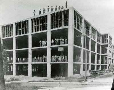 Construction of the Dominion Rubber plant